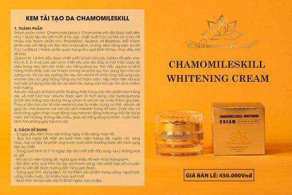 Công dụng kem tái tạo da chamomleskill